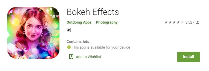 Aplikasi Bokeh android - bokeh effects