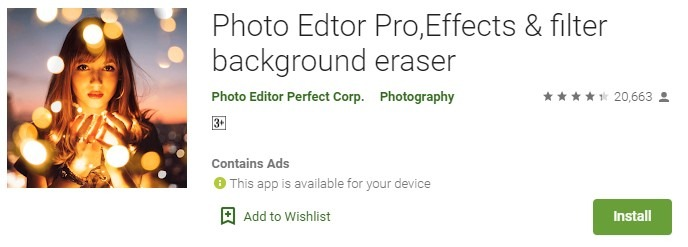 Photo Edtor Pro,Effects & filter background eraser