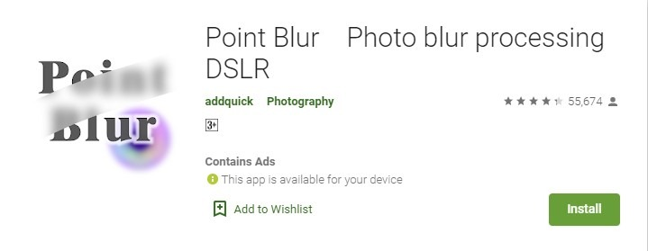 Point Blur Photo blur processing DSLR