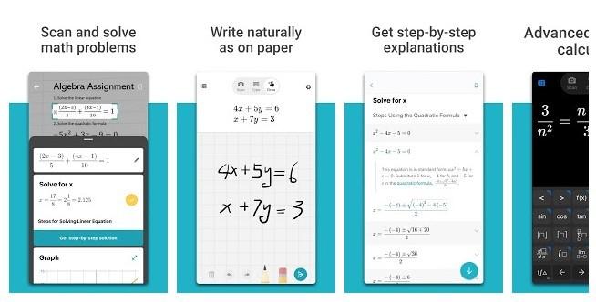 aplikasi matematika android ios - Microsoft Maths Solver