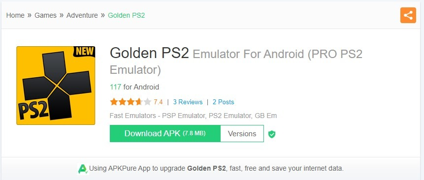 Emulator PS2 - Golden PS2